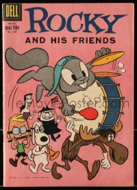 5s053 ROCKY & BULLWINKLE SHOW #1128 comic book 1960 cartoon squirrel, moose, and his friends!