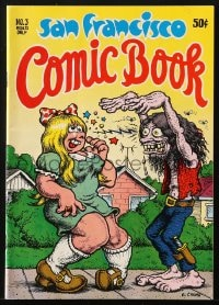 5s012 SAN FRANCISCO COMIC BOOK #3 comic book 1971 great wraparound cover art by Robert Crumb!