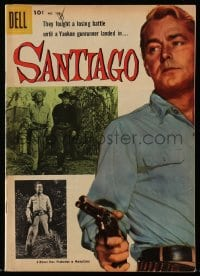 5s055 SANTIAGO #723 comic book 1956 they fought a losing battle until gunrunner Alan Ladd came!