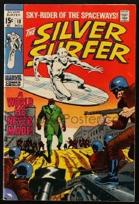 5s056 SILVER SURFER vol 1 no 10 comic book 1969 Sky-Rider of the Spaceways, a world he never made!