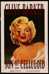 5s057 SON OF CELLULOID graphic novel 1991 Clive Barker, gruesome cover art of Marilyn Monroe!