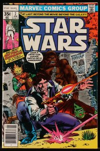 5s061 STAR WARS vol 1 no 7 comic book 1977 Han Solo & Chewbacca on a World the Law Forgot!