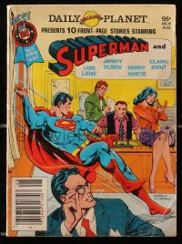 5s062 SUPERMAN vol 2 #6 digest comic book 1980 The Daily Planet presents 10 front-page stories!