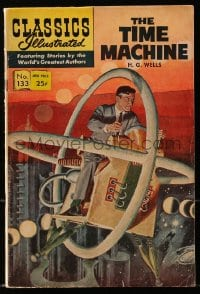 5s025 CLASSICS ILLUSTRATED #133 comic book 1967 H.G. Wells The Time Machine, cool cover art!