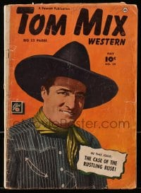 5s066 TOM MIX #29 comic book 1950 the cowboy western star in The Case of the Rustling Ruse!