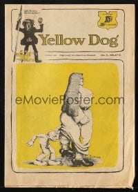 5s001 YELLOW DOG #1 comic book 1968 underground comix with art by Robert Crumb, first issue!