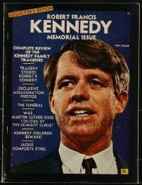 5s527 ROBERT KENNEDY magazine 1968 memorial issue, complete review of the Kennedy Family tragedies!