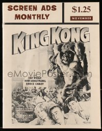 5s535 SCREEN ADS MONTHLY magazine November 1967 great cover image of the King Kong one-sheet!