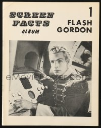 5s537 SCREEN FACTS ALBUM #1 magazine 1970s devoted entirely to Flash Gordon, full-page images!