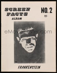 5s538 SCREEN FACTS ALBUM No. 2 magazine 1970s full-page monster portraits from 1931's Frankenstein!