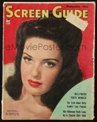 5s540 SCREEN GUIDE magazine November 1942 cover portrait of sexy Linda Darnell by Frank Powolny!