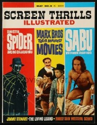 5s543 SCREEN THRILLS ILLUSTRATED #8 magazine May 1964 The Marx Bros, Sinister Spider & Sabu!