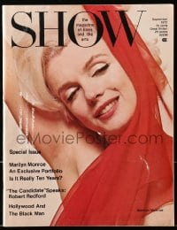 5s549 SHOW magazine September 1972 exclusive portfolio on Marilyn Monroe 10 years after death!