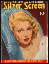 5s554 SILVER SCREEN magazine May 1941 great cover art of sexy Lana Turner by Marland Stone!