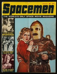 5s562 SPACEMEN #2 magazine Jan 1962 The Man Who Made Metropolis, Space Movie of the Century!