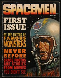 5s560 SPACEMEN vol 1 no 1 magazine July 1961 Basil Gogos cover art, from Famous Monsters editors!