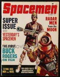 5s564 SPACEMEN #5 magazine October 1962 First Buck Rogers on Film, Radar Men from the Moon & more!
