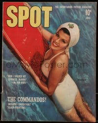 5s573 SPOT magazine April 1942 swimming Sheila Ryan, how Bob Hope snared his favorite blonde!