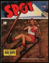 5s568 SPOT vol 1 no 4 magazine December 1940 June Storey, evergreen snow for Hollywood skiers!