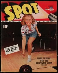 5s567 SPOT vol 1 no 3 magazine Nov 1940 learn to bowl with Hollywood stars, plus Madame La Zonga!