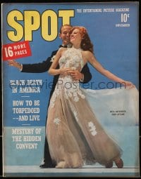 5s575 SPOT magazine November 1942 Rita Hayworth & Fred Astaire in You Were Never Lovelier!