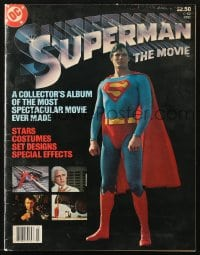 5s587 SUPERMAN magazine 1978 great color images of superhero Christopher Reeve from the movie!