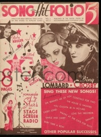 5s557 SONG HIT FOLIO vol 1 no 3 magazine 1934 art of Carole Lombard & Bing Crosby, Ginger Rogers