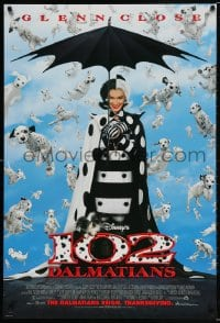 5t006 102 DALMATIANS advance DS 1sh 2000 Walt Disney, Gerard Depardieu, wicked Glenn Close!
