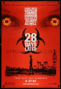 5t012 28 DAYS LATER teaser DS 1sh 2003 Danny Boyle, Cillian Murphy vs. zombies in London!