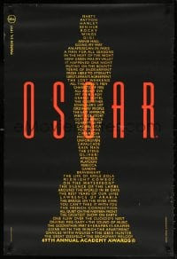 5t002 69TH ANNUAL ACADEMY AWARDS heavy stock 24x36 1sh 1997 image of Oscar from winning movie titles
