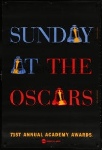 5t004 71ST ANNUAL ACADEMY AWARDS 1sh 1999 Sunday at the Oscars, cool ringing bell design!