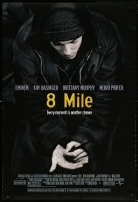 5t013 8 MILE DS 1sh 2002 super close up of Eminem, Curtis Hanson, Detroit, rap music!