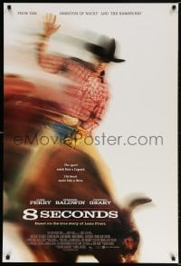 5t014 8 SECONDS int'l 1sh 1994 cool image of Luke Perry as rodeo cowboy Lane Frost, John G. Avildsen!
