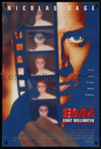 5t015 8MM int'l DS 1sh 1999 close-up of Nicolas Cage looking at film, Joel Schumacher directed!