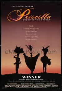 5t020 ADVENTURES OF PRISCILLA QUEEN OF THE DESERT DS 1sh 1994 silhouette of Stamp, Weaving, Pearce!