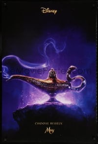 5t023 ALADDIN teaser DS 1sh 2019 Walt Disney, Ritchie, Smith as the Genie, Massoud in title role!