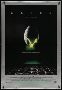 5t027 ALIEN style B DS 1sh R2003 Ridley Scott outer space sci-fi monster classic, cool egg image!