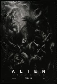 5t029 ALIEN COVENANT style C teaser DS 1sh 2017 Ridley Scott, Fassbender, incredible sci-fi image!