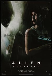 5t030 ALIEN COVENANT style E int'l teaser DS 1sh 2017 Ridley Scott, Waterston and the creature!