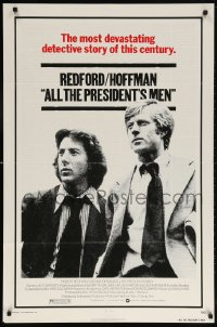 5t037 ALL THE PRESIDENT'S MEN 1sh 1976 Dustin Hoffman & Robert Redford as Woodward & Bernstein!
