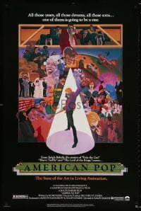 5t042 AMERICAN POP 1sh 1981 cool rock & roll art by Wilson McClean & Ralph Bakshi!