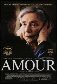 5t044 AMOUR DS 1sh 2012 Jean-Louis Trintignant, Emmanuelle Riva, image of elderly woman!