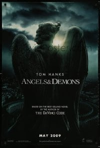 5t046 ANGELS & DEMONS teaser 1sh 2009 from Da Vinci Code author Dan Brown, directed by Ron Howard!