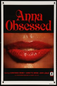 5t047 ANNA OBSESSED 1sh 1977 Constance Money, Annette Haven, Jamie Gillis, sexy lips!