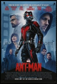 5t050 ANT-MAN int'l advance DS 1sh 2015 Paul Rudd in title role, Douglas, Lilly!
