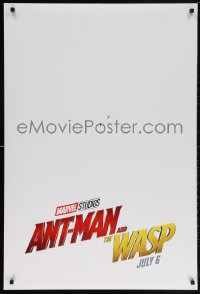 5t053 ANT-MAN & THE WASP teaser DS 1sh 2018 Marvel, Paul Rudd and Evangline Lilly in title roles!