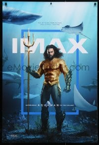 5t057 AQUAMAN IMAX DS 1sh 2018 DC, Jason Mamoa in title role with great white sharks and more!