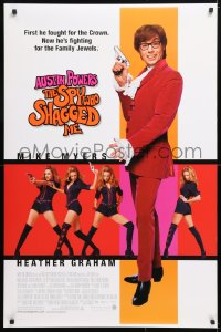 5t061 AUSTIN POWERS: THE SPY WHO SHAGGED ME DS 1sh 1999 Mike Myers, super sexy Heather Graham!