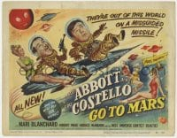 5w001 ABBOTT & COSTELLO GO TO MARS TC 1953 art of wacky astronauts Bud & Lou in outer space!