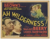 5w006 AH WILDERNESS TC 1935 Wallace Beery, Lionel Barrymore, Eugene O'Neill's American drama!